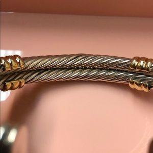 David Yurman Jewelry - David Yurman cable bracelet with diamonds